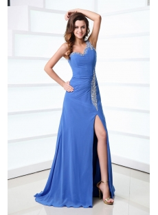 Sexy Periwinkle Formal Dresses with One Shoulder for Spring