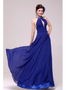 Sexy Royal Blue Halter Evening Dress 2014:1st-dress.com