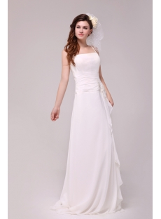 Spaghetti Straps Casual Wedding Dress for Beach Wedding