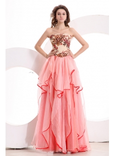 Special Strapless Colorful Quince Gown Dress