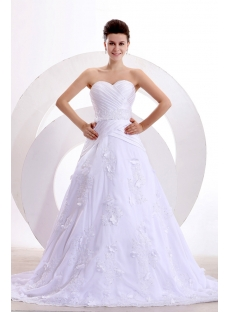 Stunning Spring A-line Long Wedding Dress 2014