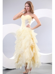 Stunning Yellow Maxi Short Quinceanera Dresses