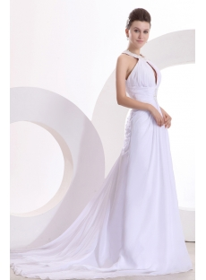Summer Beach Style Wedding Dresses with Keyhole