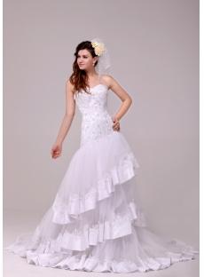 Sumptuous Drop Waist A-line Sweetheart Bridal Gown 2014