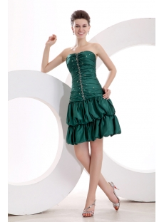 Superior Green Short Bubble Graduation Dress