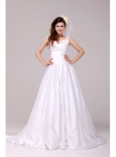 Terrific Queen Anne A-line Discount Princess Bridal Dress 2014