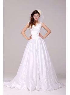 Terrific Queen Anne A-line Discount Princess Bridal Dress 2014