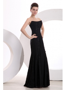 Unique Elegant Black Long Lace Prom Dress