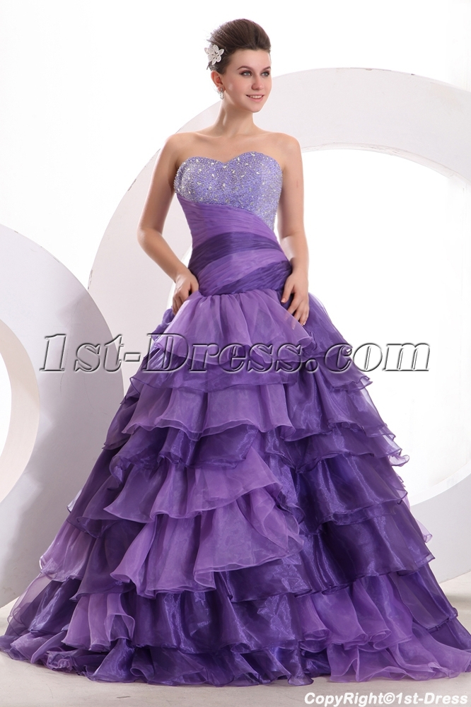 6f56b4dc1e5 Amazing Purple Colorful Quinceanera Dress with Corset 1st-dress.com