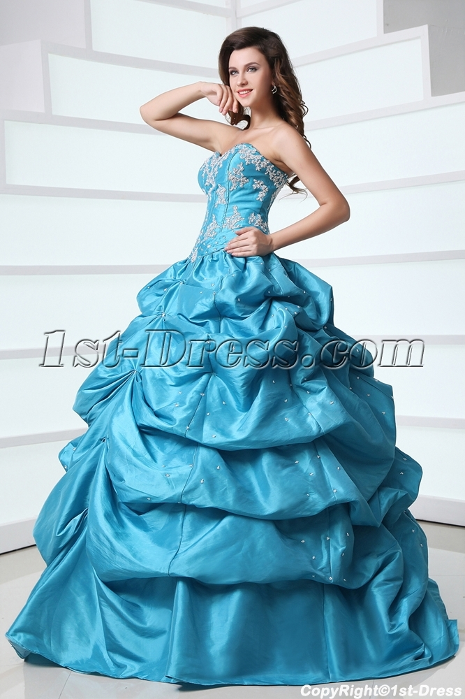 images/201312/big/Blue-Sweetheart-Pick-up-Corset-Quince-Dress-at-Cheap-Price-3700-b-1-1386322067.jpg