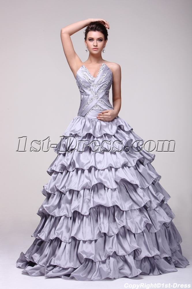 images/201312/big/Brand-New-Silver-Layered-15-Quinceanera-Dress-3691-b-1-1386159741.jpg