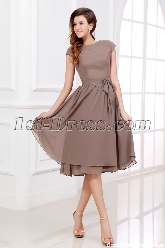 Grooms Mother's Tea Length Dresses