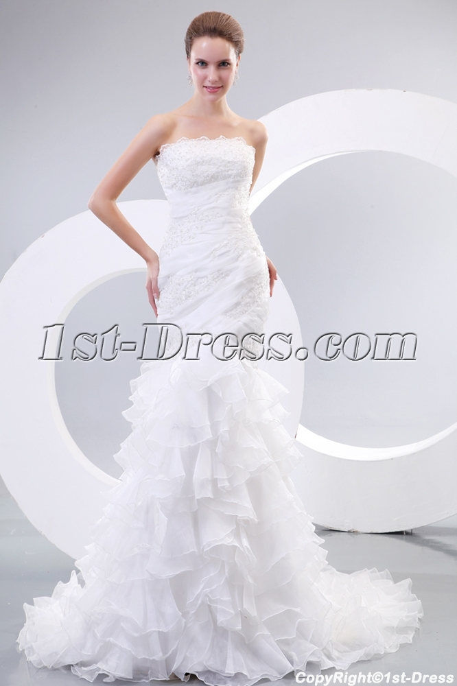 Trumpet Style Wedding Dresses Lace : Bridal gowns gt mermaid chic trumpet style lace wedding