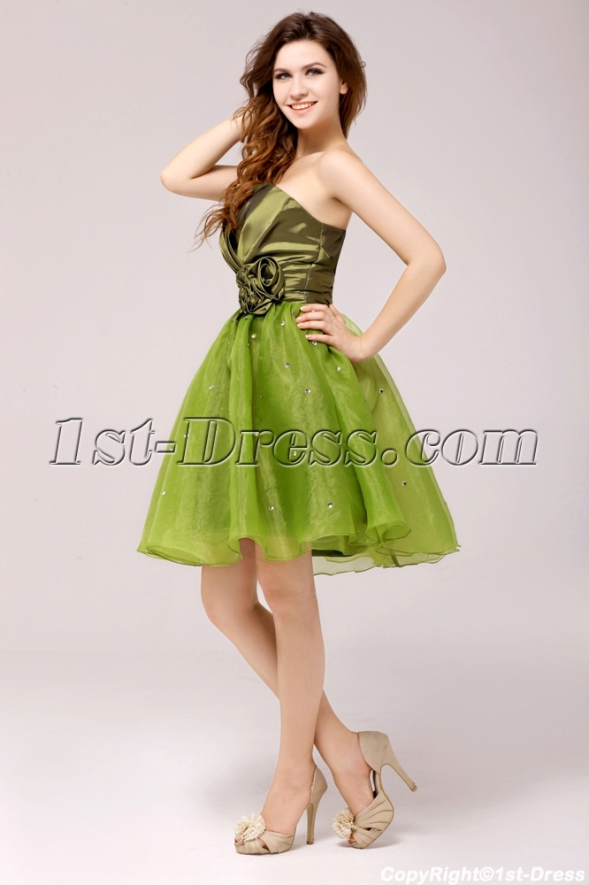 9215d2b4e75 prev  next. Specifications. Product Name  Cute Flare Olive Short Cocktail  Dress for Girls. ltem Code  xl003794. Category  Prom Dresses Cocktail  Dresses