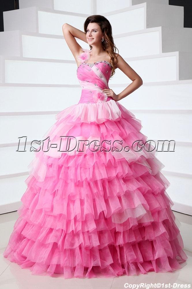 068c6354974 Dramatic Puffy Affordable Princess Vestidos de Quinceanera 1st-dress.com