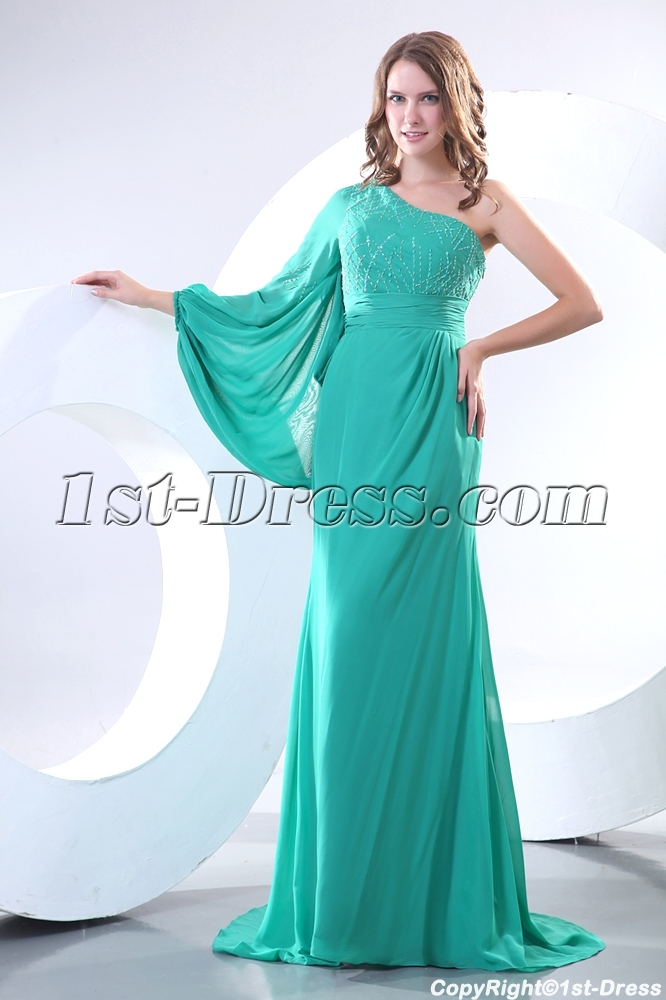 Elegant Long Sleeves Formal Chiffon Mother of Groom Dress