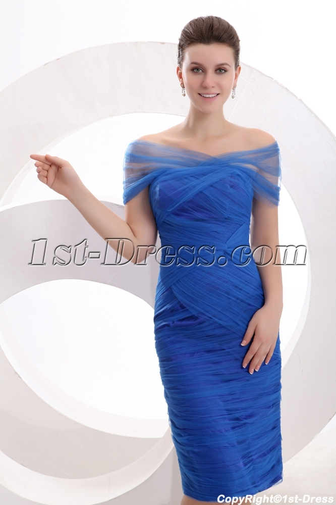 Elegant Off Shoulder Royal Blue Mother Of Groom Dress 1st Dress Com