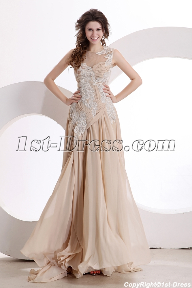 Exquisite Illusion Evening Dress 2014 New Arrival 1st