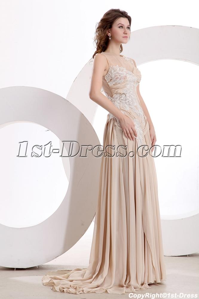 Exquisite Illusion Evening Dress 2014 New Arrival:1st-dress.com