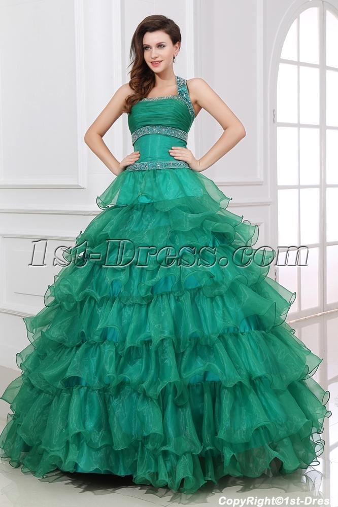 quinceanera green dresses