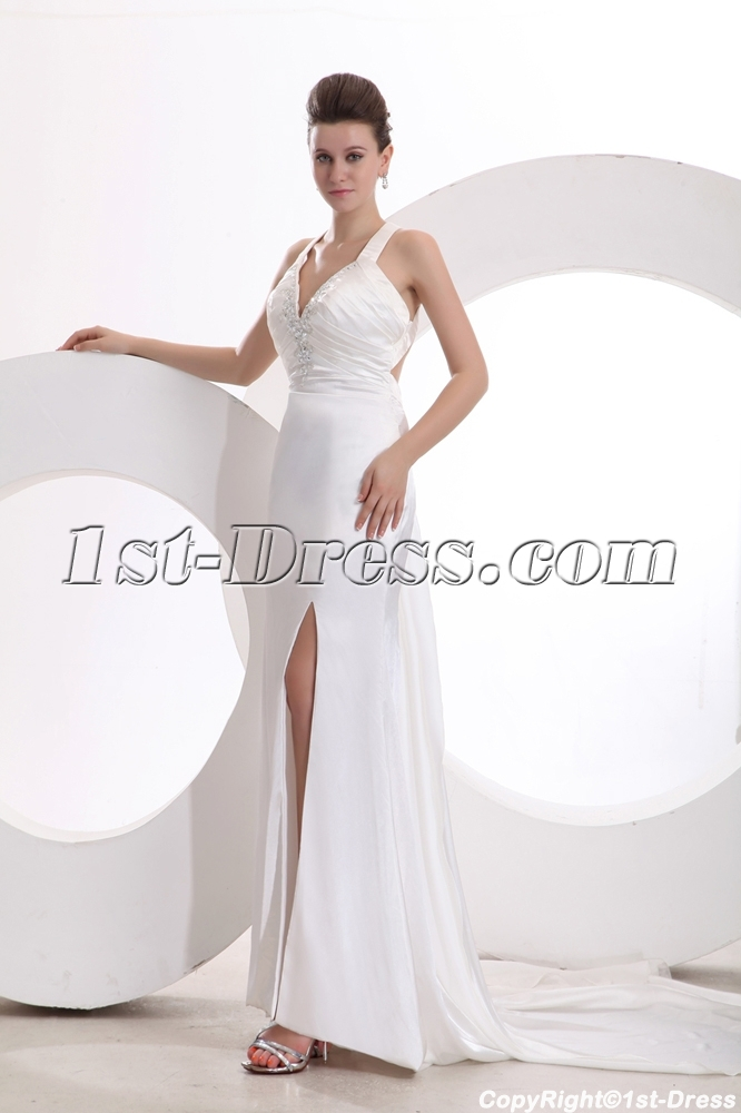 Ivory Beach Wedding Dresses Casual Summer