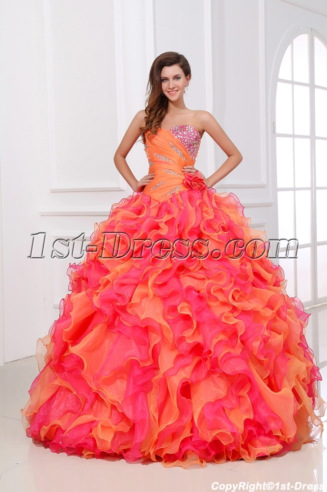 0f606a5f7c Luxury and Colorful Princess Quinceanera Dress 2014 1st-dress.com