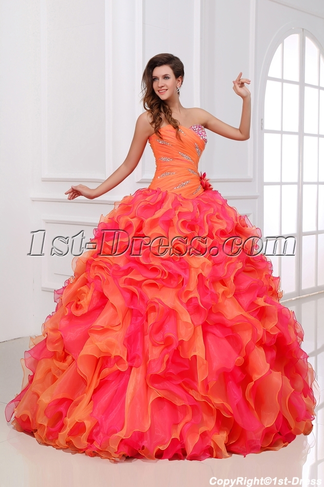 1fc15aab098 Luxury and Colorful Princess Quinceanera Dress 2014 (Free Shipping)
