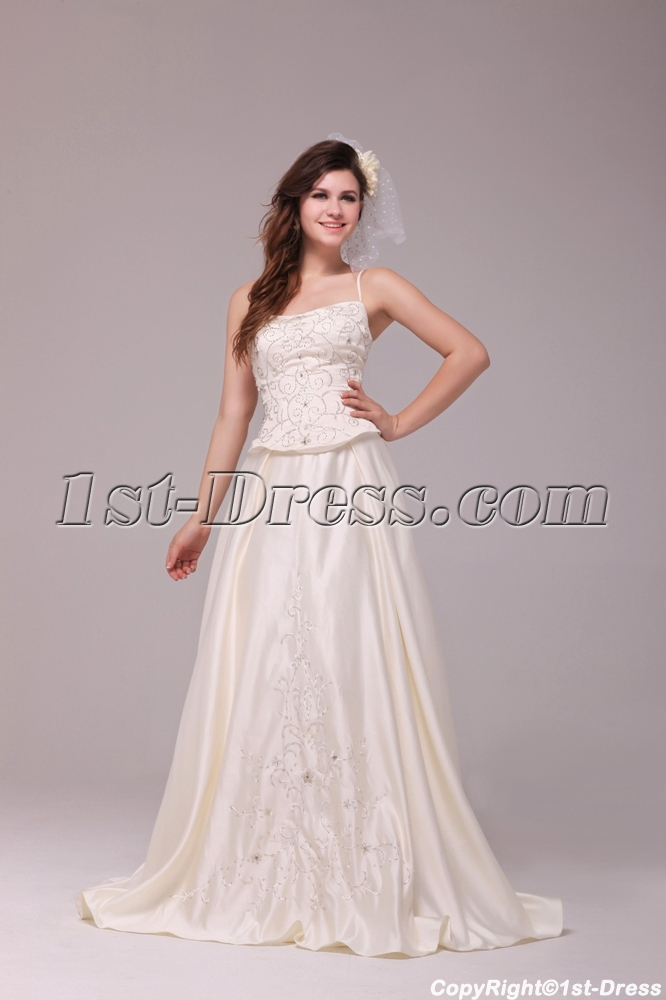 Pretty Casual Embroidery Plus Size Bridal Gowns with Corset:1st ...
