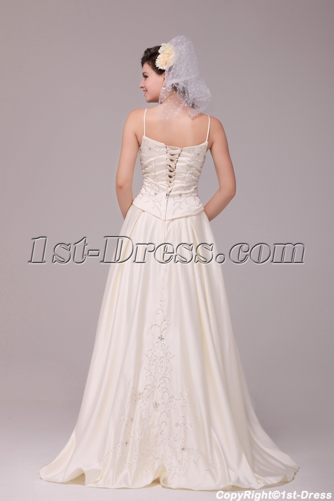 41cfb338d52 Pretty Casual Embroidery Plus Size Bridal Gowns with Corset 1st-dress.com