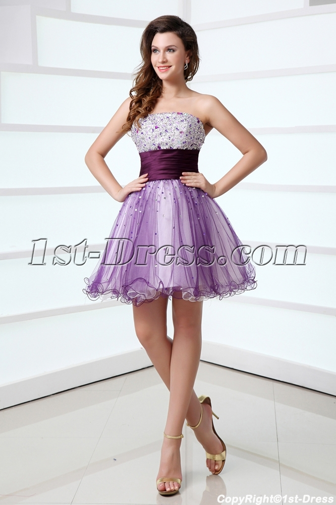 Purple Sweet 16 Dresses Short In Miami 1st Dress Com