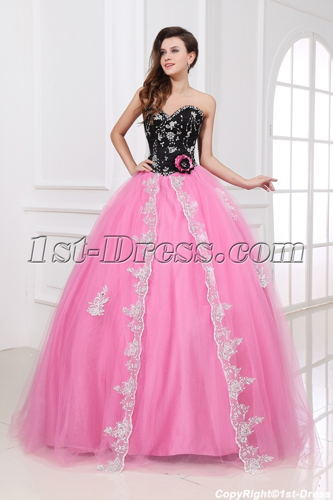 images/201312/big/Romantic-Pink-and-Black-Sweetheart-New-Arrival-Quinceanera-Dress-2014-3702-b-1-1386322890.jpg