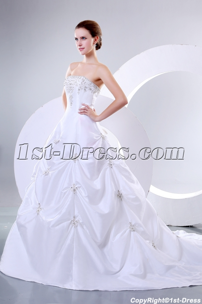Romantic Strapless Bridal Gowns Perth Western Australia:1st-dress.com