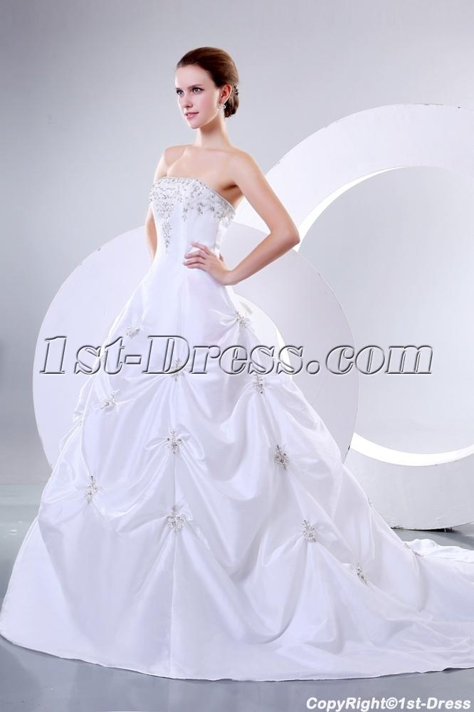 Romantic strapless bridal gowns perth western australia for Vintage wedding dresses perth