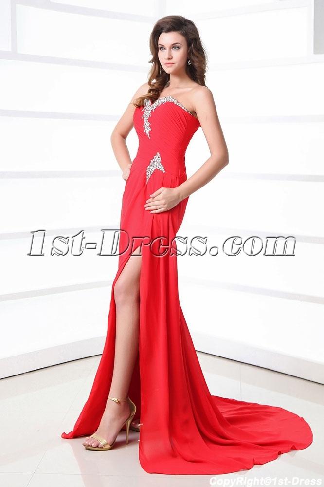 Occasion dresses gt prom dresses gt celebrity dresses gt sexy red slit