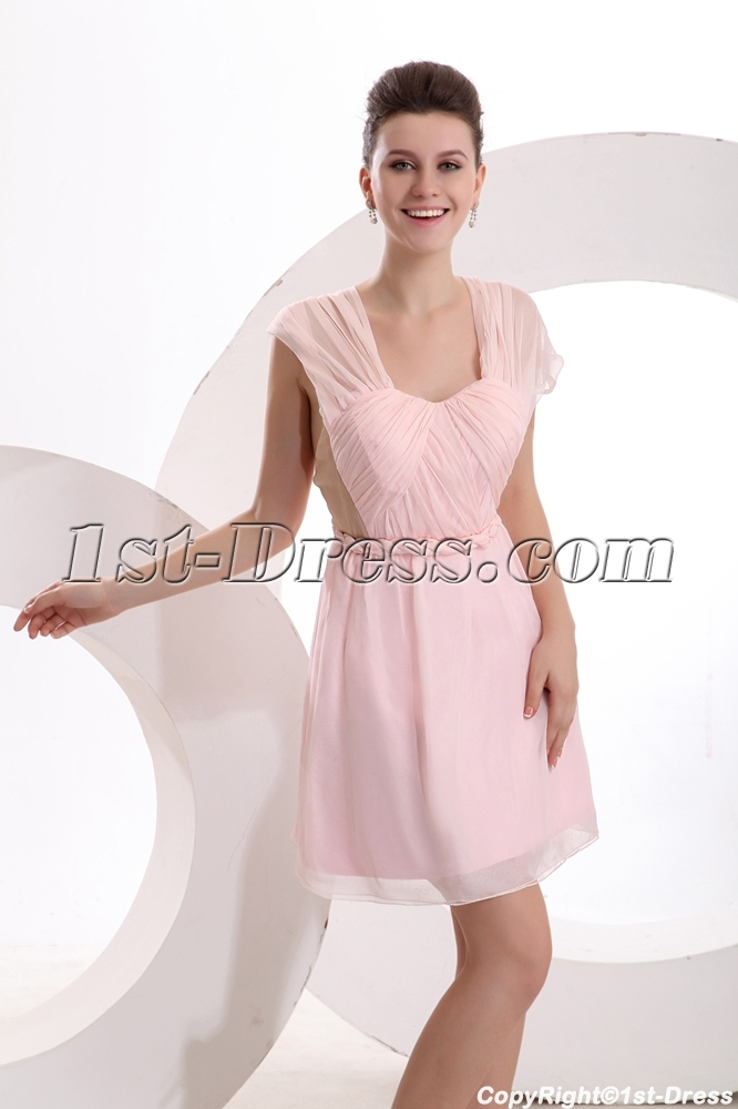 Sexy Short Pearl Pink Cocktail Dress
