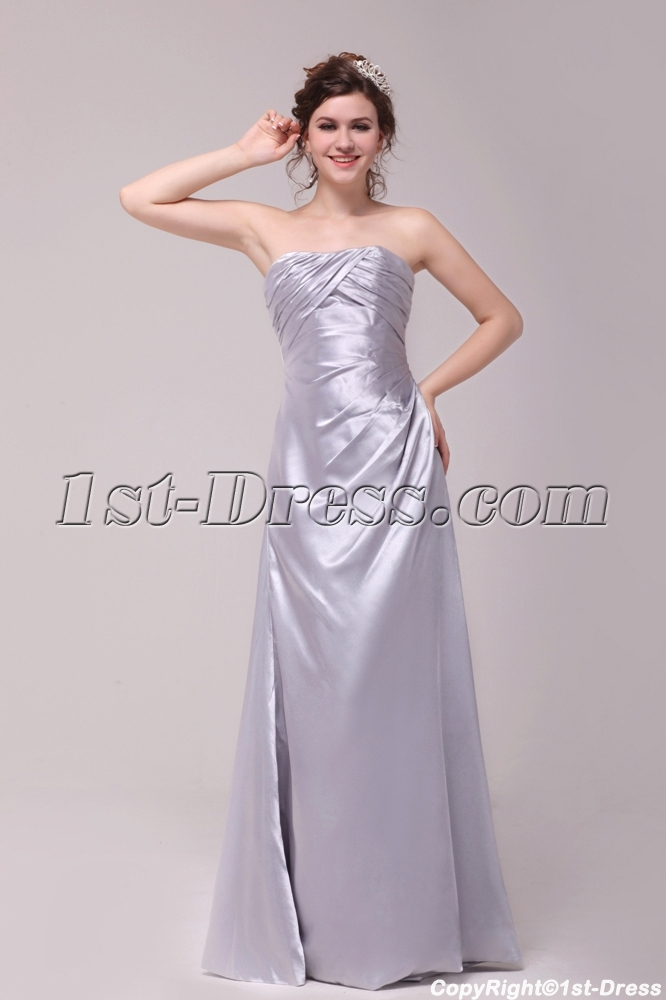 Simple Silver Taffeta A-line Prom Dress 2012:1st-dress.com