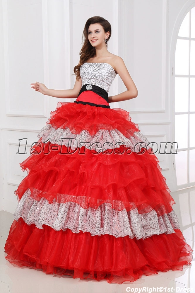 Special Colorful baile de debutantes Dress for Girl:1st-dress.com
