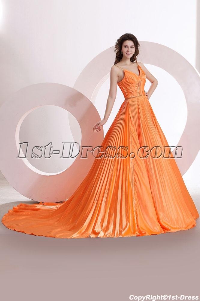 images/201312/big/Straps-Orange-Pleats-Formal-Evening-Dress-with-Train-3717-b-1-1386603966.jpg