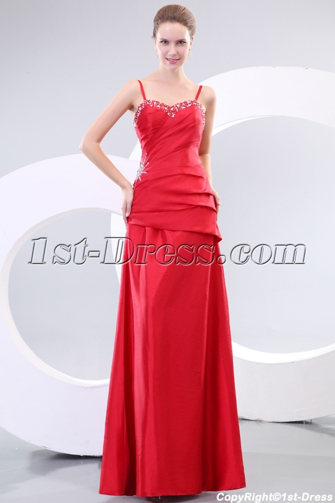 Western Straps Long A-line Bridesmaid Dresses
