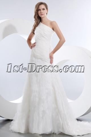Amazing One Shoulder A-line Wedding Dresses 2014 Online