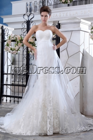 Amazing Sweetheart Long Lace Bridal Gowns 2014