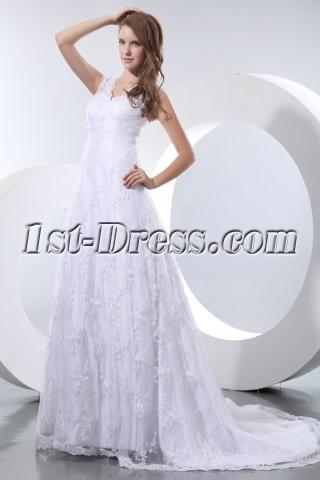 Beautiful Vintage Lace Empire Plus Size Wedding Dresses