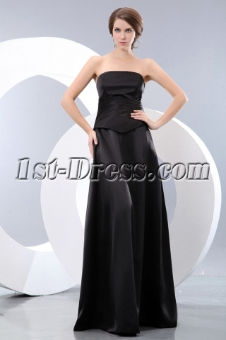 Black Mock Two Piece Formal Evening Dresses