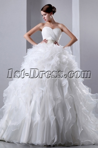 Charming Organza Ruffled Bridal Gown Dresses 2014