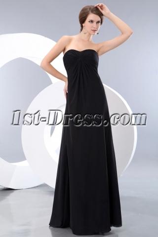 Charming Sweetheart Long Chiffon Maternity Prom Gown Dress