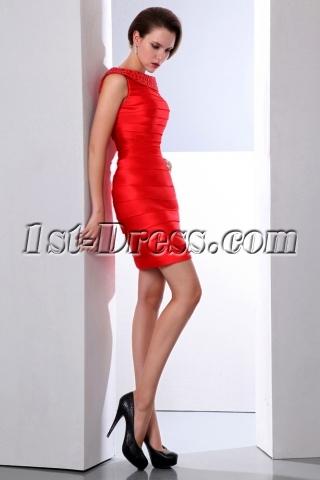 Elegant Red Bandage Cocktail Dress