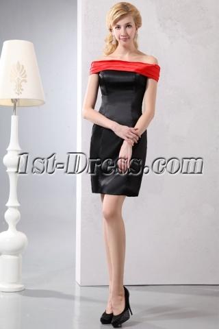 Elegant Red Off Shoulder Little Black Dress under 100
