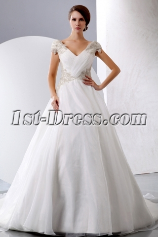 Exquisite Princess Wedding Dress Off Shoulder with Corset