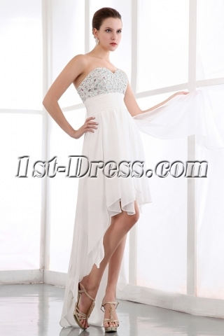 Fancy Sweetheart High-low Hem Graduation Dress