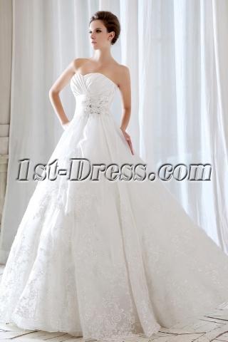 Floor Length Long Destination Wedding Dresses 2013